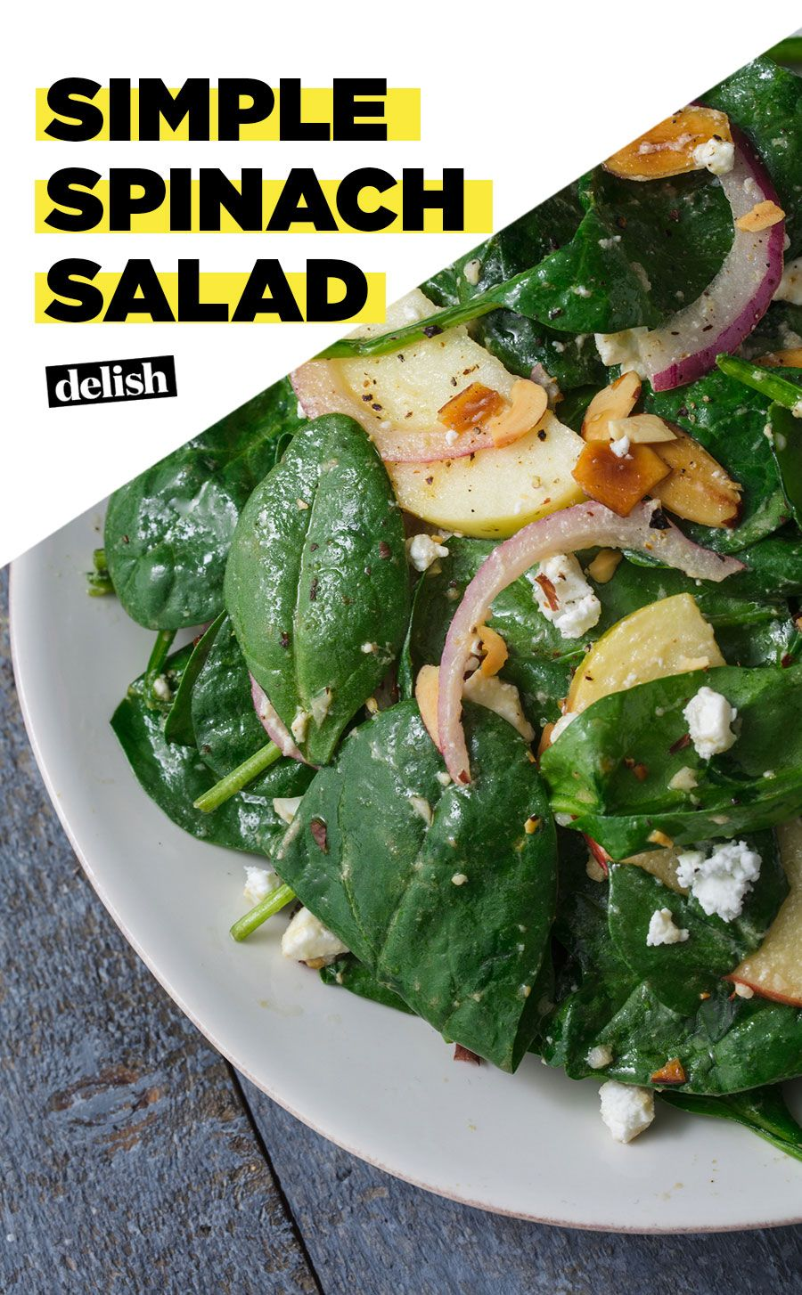 This Simple Spinach Salad Is The Perfect Side Recipe Spinach Salad Recipes Simple Spinach Salad Easy Salads