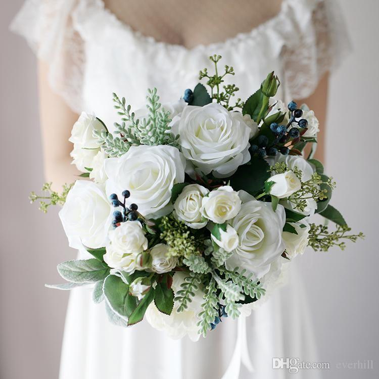 White Rose Weddings Celebrations Events Winter Wedding: Jane Vini Vintage White Bouquet Mariage Winter Wedding