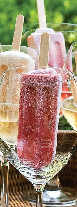 Just in case your wine glass is ever empty lol #champagnepopsicles