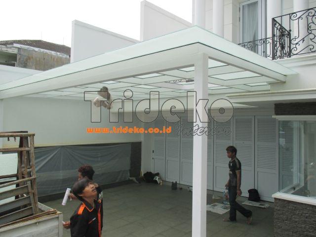 kanopi baja ringan atap kaca canopy