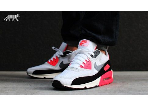 9a94af421e1e Nike Air Max 90 Premium Tape QS  Infrared  (White   Cool Grey - Black -  Atomic Red)
