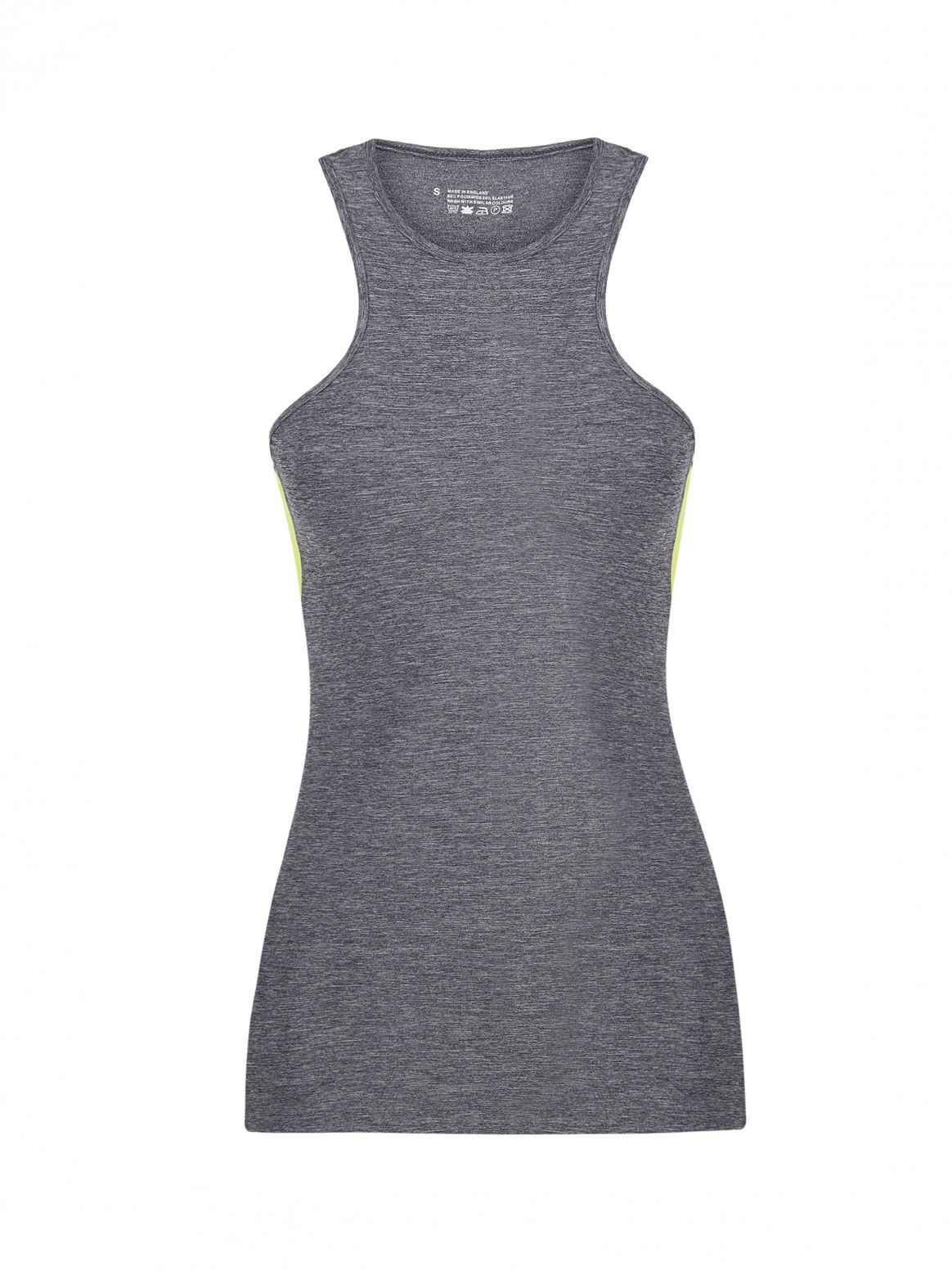 CHARLI COHEN grey and lime AERIAL TANK front