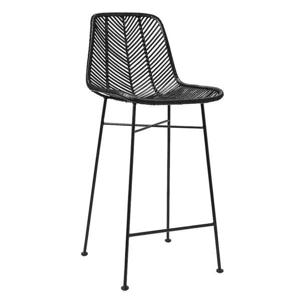 Why We Love It Black Rattan Bar Stool With Metal Frame More Informationdimensions 20 1 2 L X 17 W 40 H
