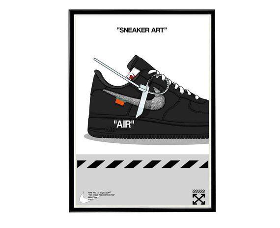 Custom Off White Sneaker Pop Art Poster, Hypebeast Poster