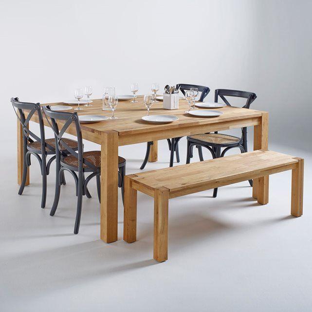 Table carr e ch ne massif 8 couverts adelita deco nouvel appart pinterest tables - Table de cuisine carree 8 places ...
