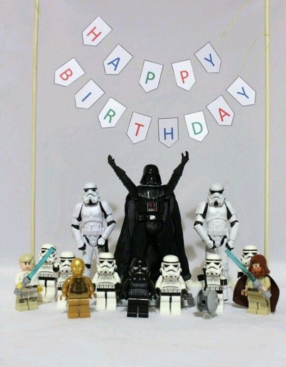 Darth Vader Wishes You A Happy Birthday Star Wars Art With