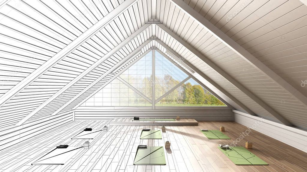 Architect Interior Designer Concept Unfinished Project That Becomes Real Empty Sponsored Designer Concept Archit In 2020 Yoga Studio Design Architect Design