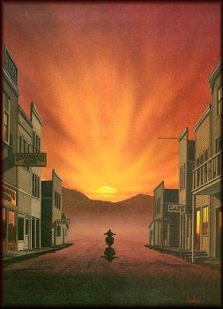 Ride Into The Sunset Painting With Images Sunset Painting