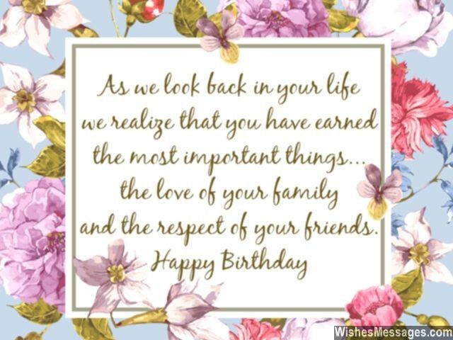 Beautiful Words For 60th Birthday Wishes Friends And Family