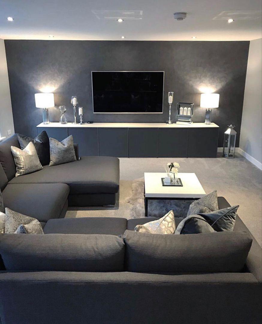 Elegantes Stilvolles Wohnzimmer Stylish Sleek Living Room Wunderscho Elegantes Sti Trendy Living Rooms Farm House Living Room Living Room Grey