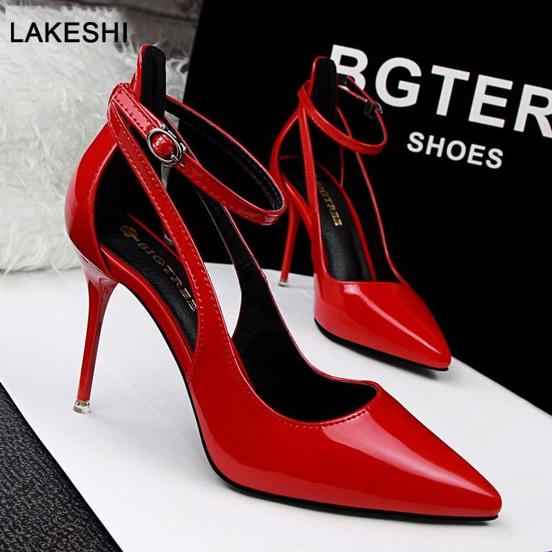770b9c4a97 Bigtree Shoes Women Pumps Patent Leather Women Shoes High Heels ...