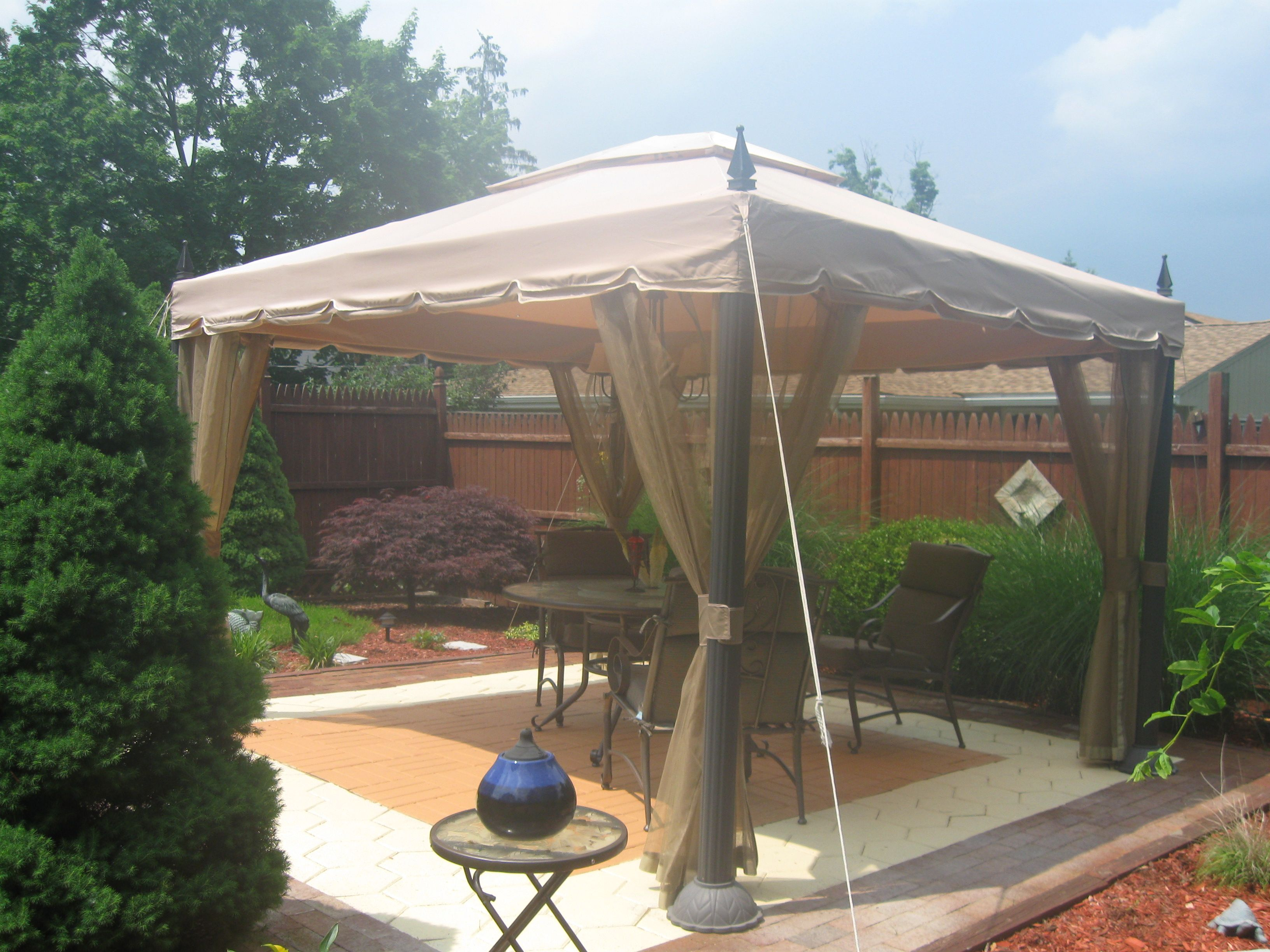 Pacific Casual 10 Ft X 12 Ft Mediterra Gazebo Replacement Canopy Garden Winds Home