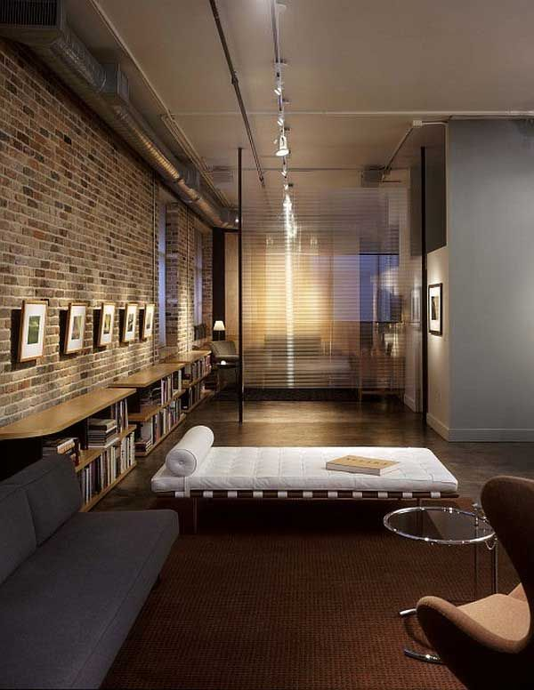 fascinating reading nook with exposed brick walls design - Walls Design