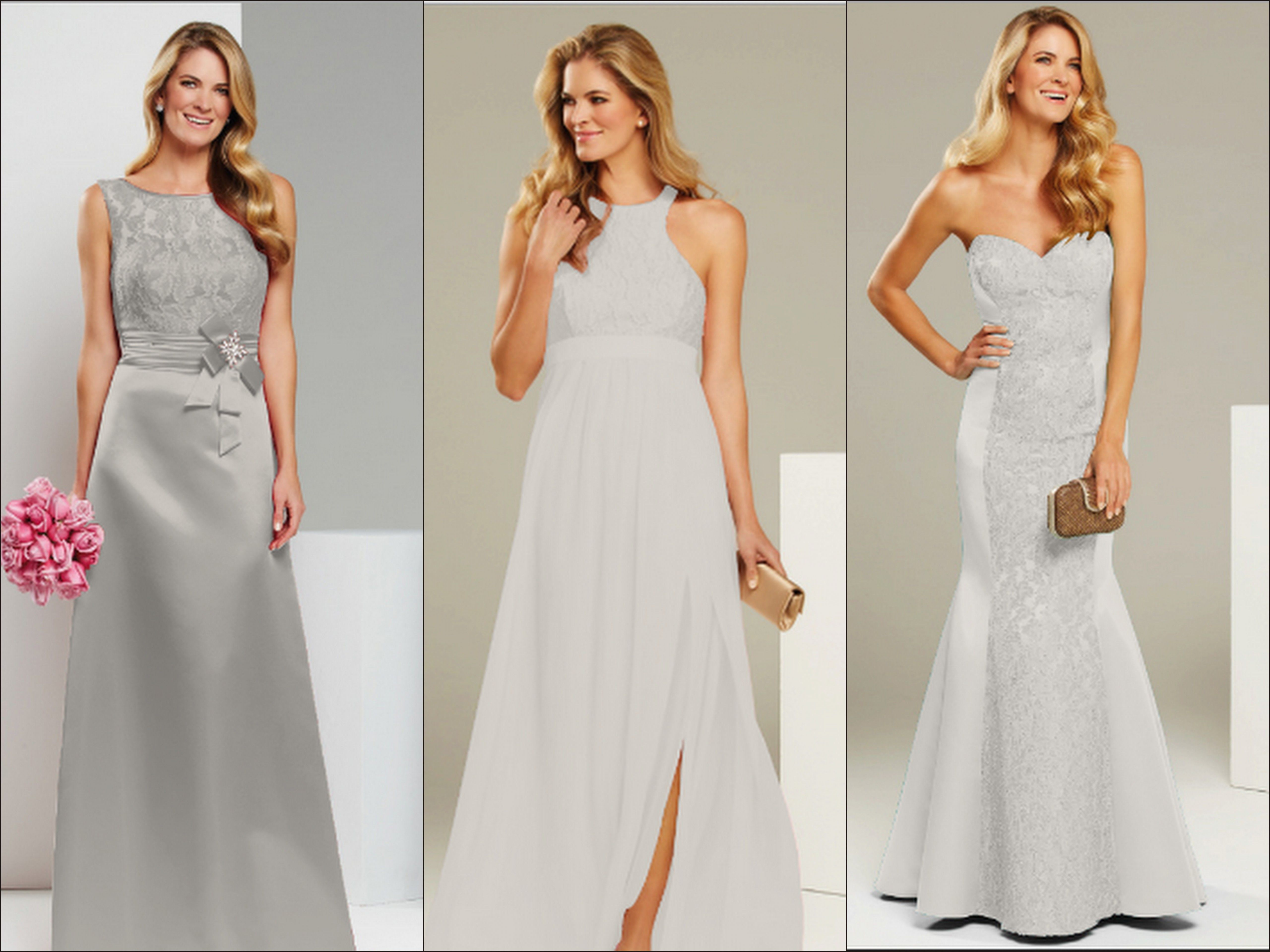Three different mr k bridesmaid styles with lace detailing in three different mr k bridesmaid styles with lace detailing in oyster head to http cheap dressesblue ombrellifo Images