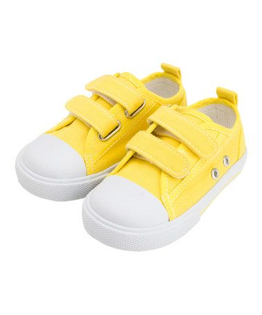 Take a look at this Yellow Canvas Sneaker by JoJo Maman Bébé on #zulily today!
