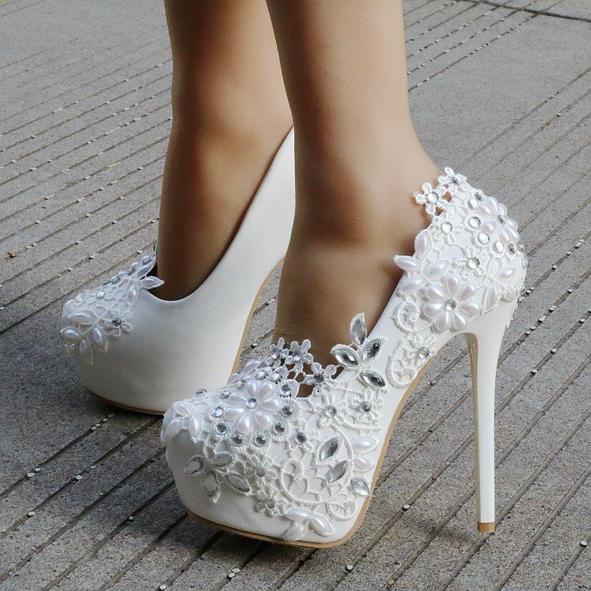 Xaxbxc 2018 Nowa Wiosna Koronki Rhinestone Krystalicznie Platformy Pompy Wysokie Obcasy Gladiator K Womens Wedding Shoes High Heels Stilettos Womens High Heels