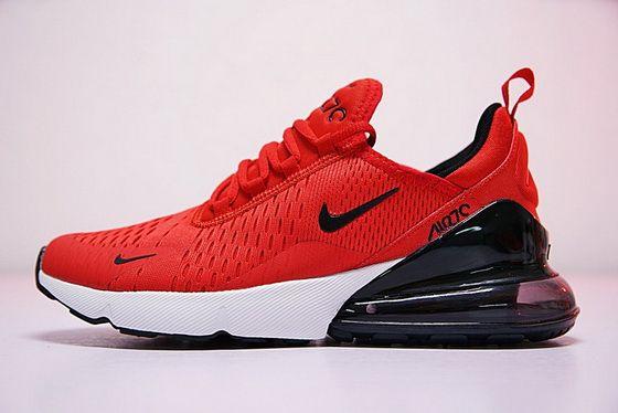 2018 Official New Nike Air Max 270 Red Black Ah8050 600 Shoe ... 59b51ac3066f