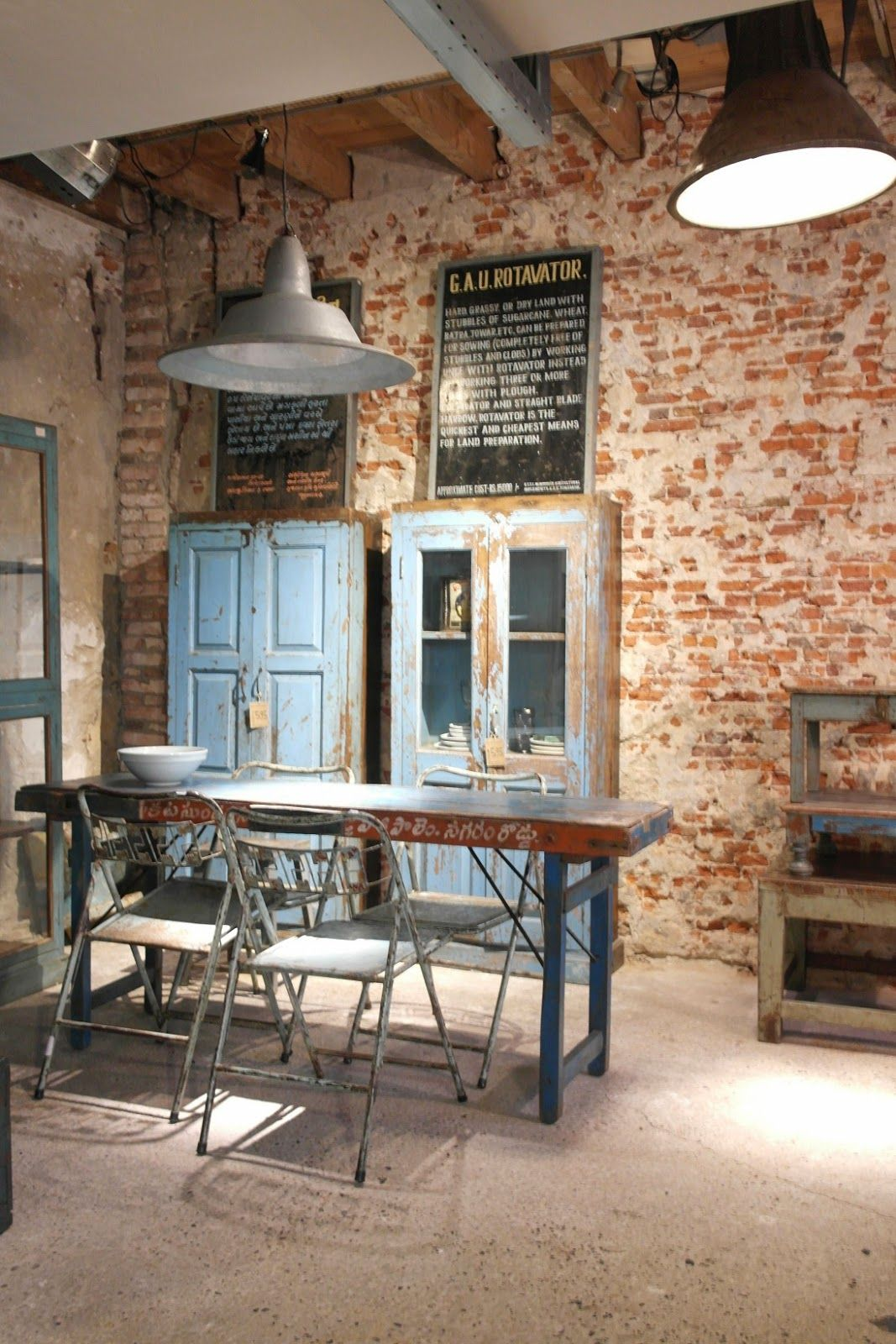 Vintage Industrial Style Küche | Shabby Chic Kommode Aus Massivholz ...