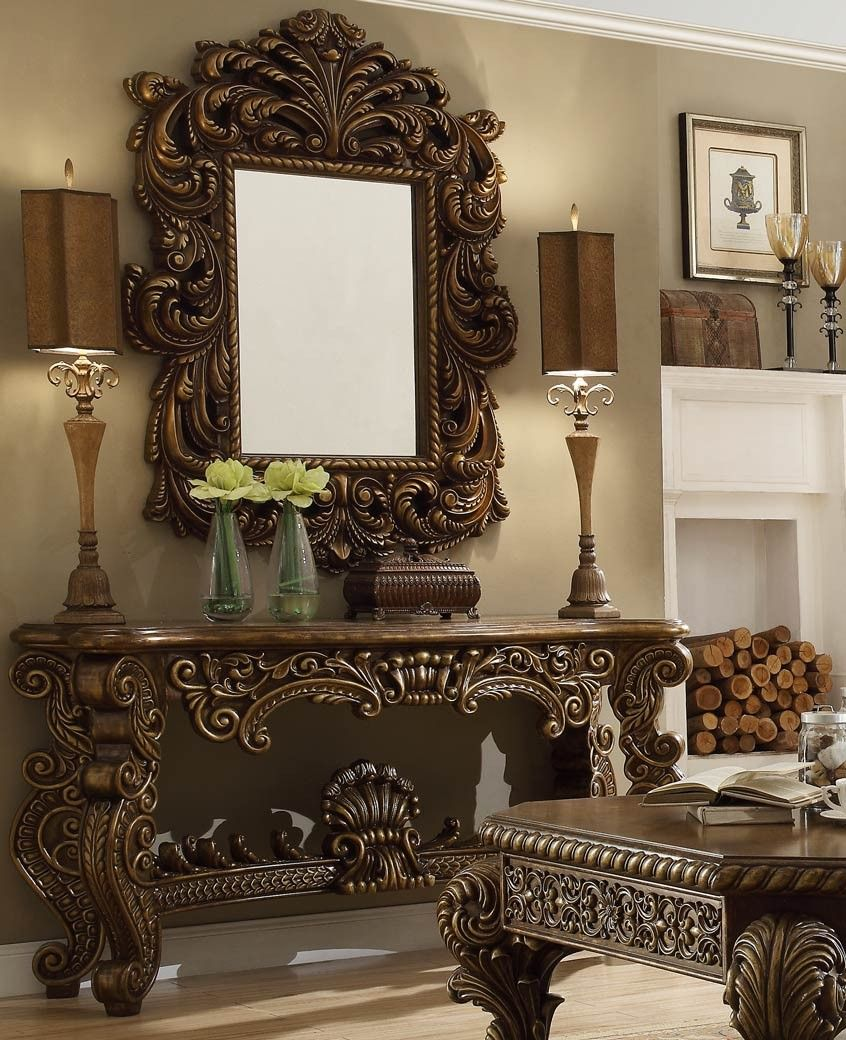 Victorian Style Dining Room: HD 8011 Homey Design Console Table Victorian, European