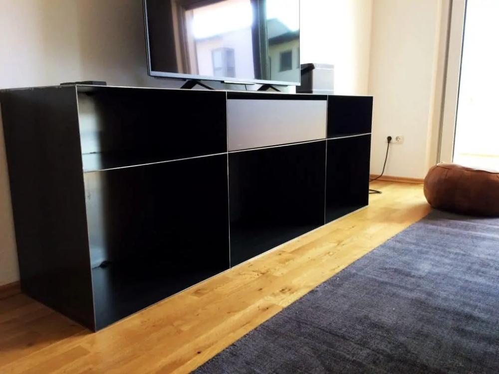 Kommode Sideboard Classic 049 Schwarz Grau Metall Mit Schublade Stahlzart Design Mobel Online Shop In 2020 Industrial Style Home Decor Furniture