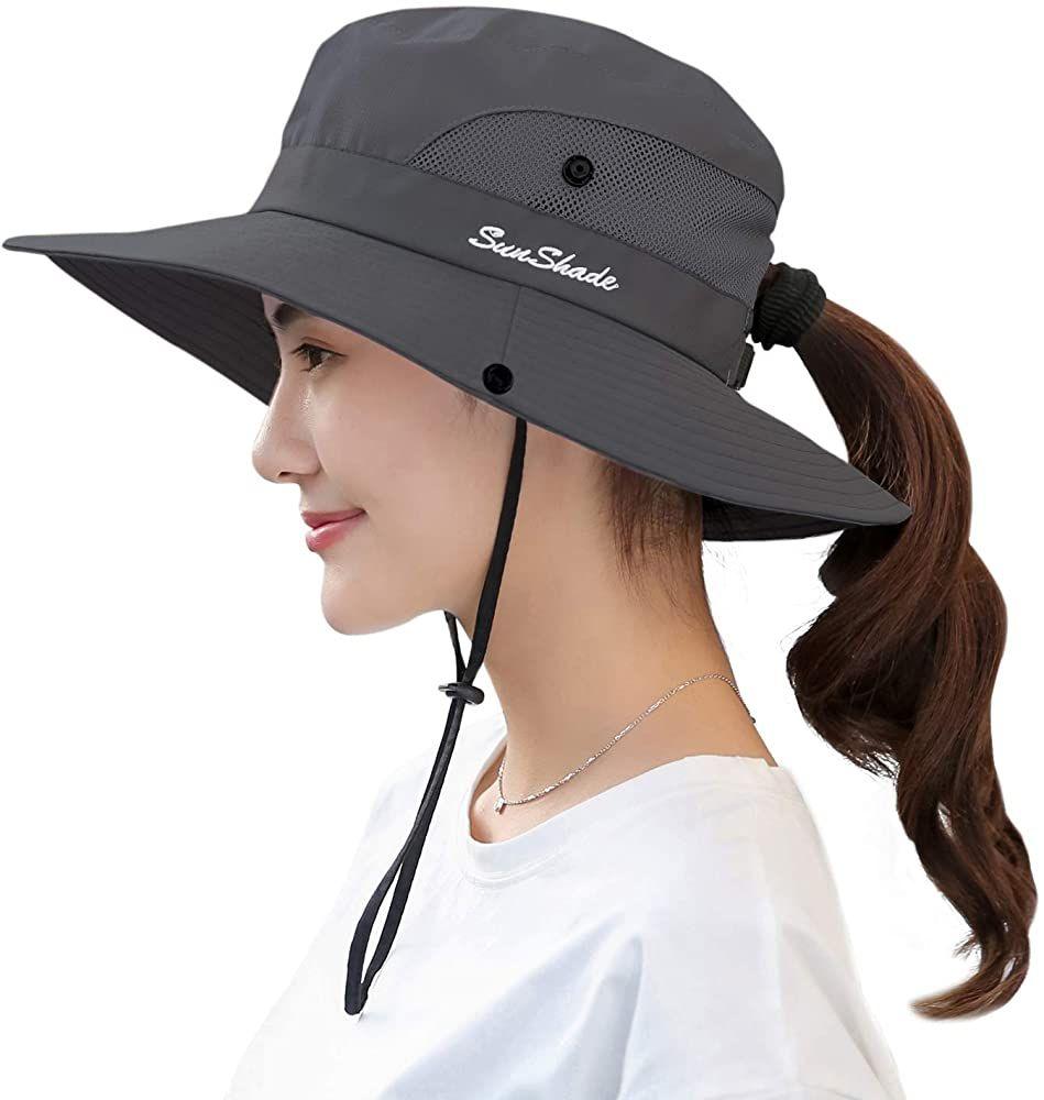 CapsA Wide Brim Beach Sun Hats for Women Men Protective Floppy Bucket Hat Fishing Cap
