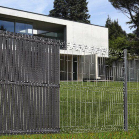 Grillage Panneau Soude Naterial Gris H 1 23 X L 2 5m Maille 200x50mm Cloture Maison Grillage Jardin Brise Vue