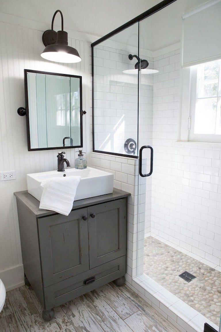 31 Bathroom Tile Ideas Make It Fresh And Not Boring Bathroom Design Small Small Bathroom Modern Farmhouse Bathroom