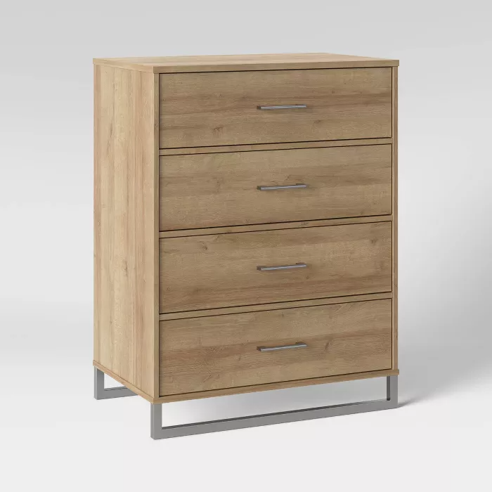 Mixed Material 4 Drawer Dresser Natural Room Essentials In 2020 4 Drawer Dresser 3 Drawer Dresser Dresser Drawers