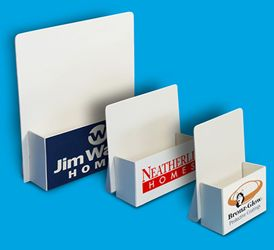 Ship-Flat Cardboard Brochure Holders | Habladores | Pinterest ...