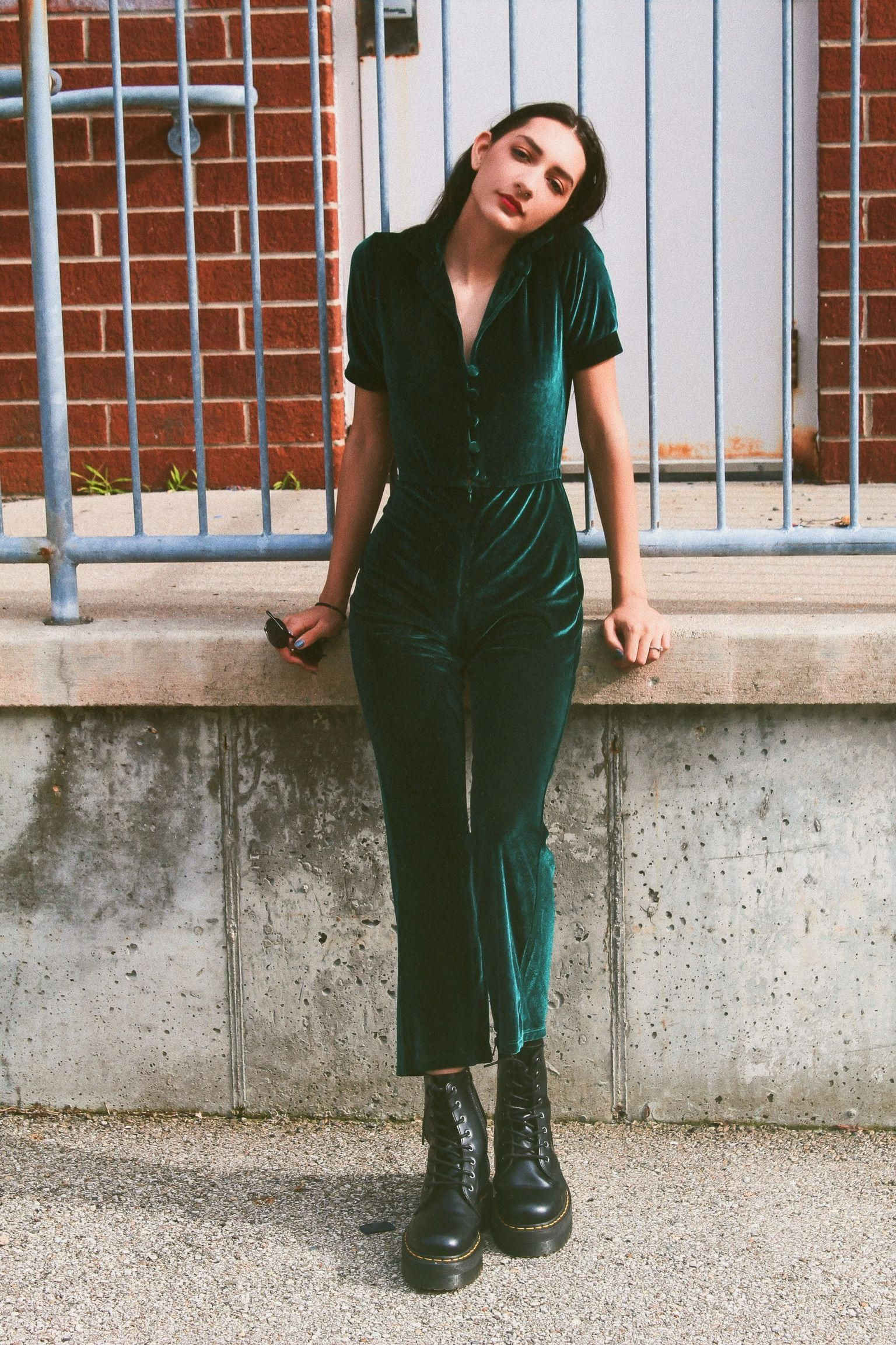 a893ae666c77 The Perfect Velvet Jumpsuit for Summer
