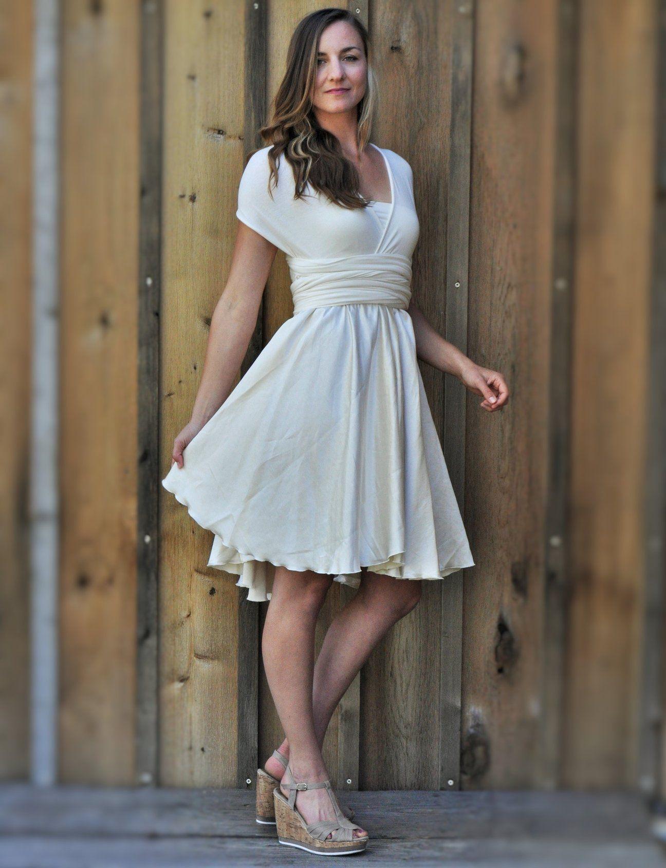 Mid Length Full Circle Silk Infinity Dress - Custom Made - Avita Dress