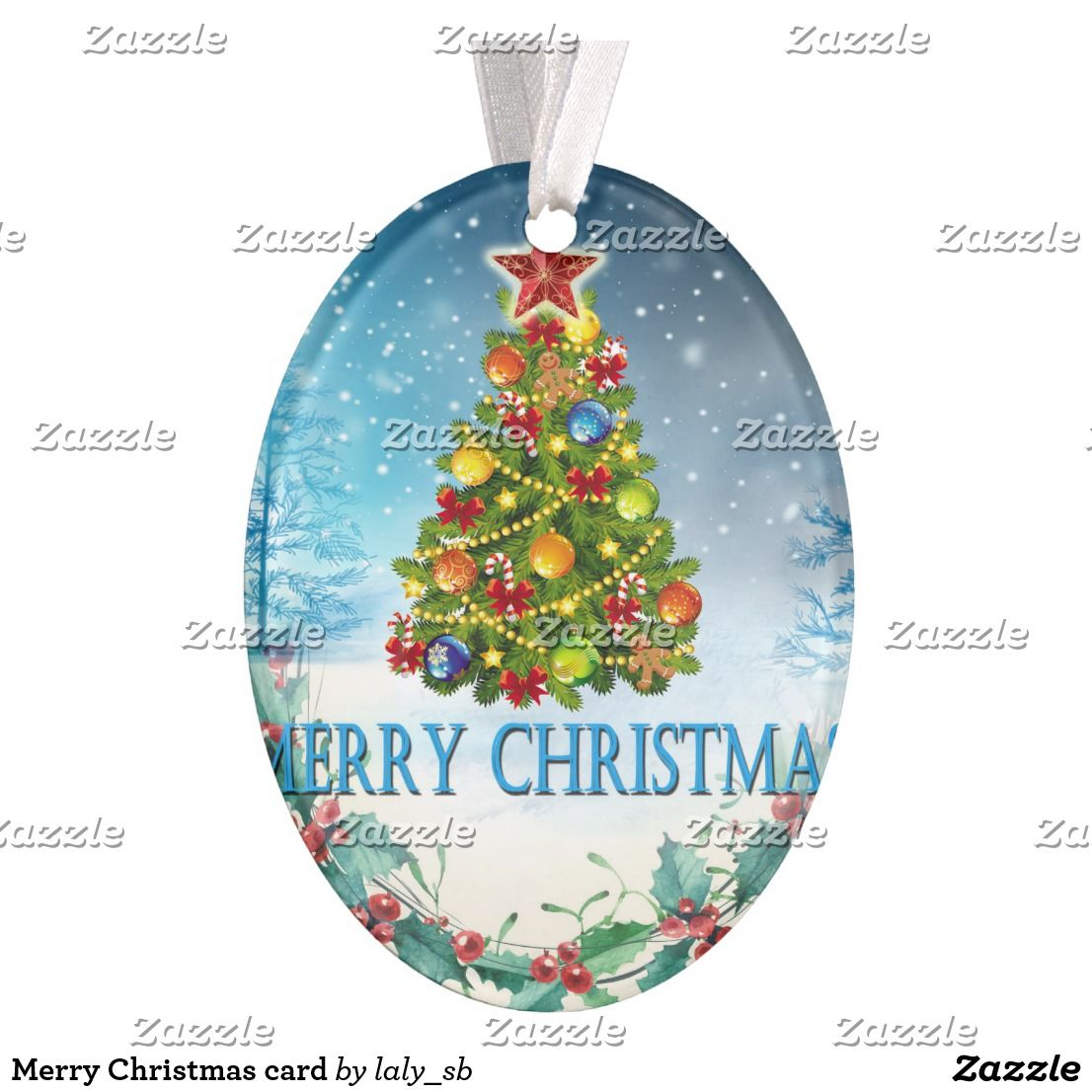 Merry Christmas Card Ornament With Images Christmas Card Ornaments