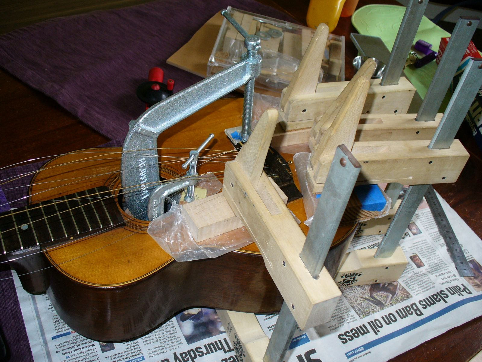 Side view Clamps anyone guitarrepair martinguitars tiple