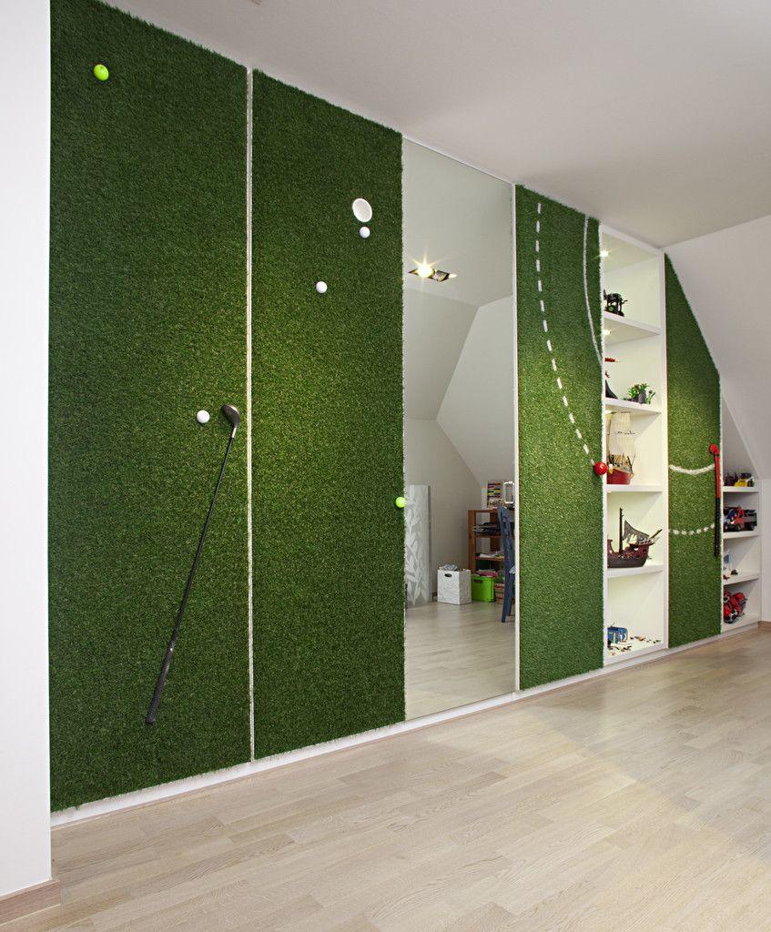 Spectacular  Kleiderschrank Wiese gruen golf sport aussergewoehnlich