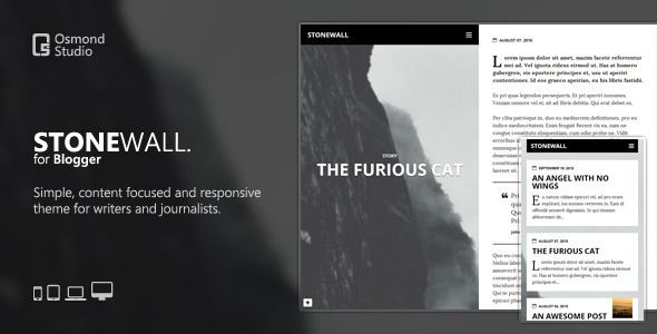 Free Stonewall A Theme For Writers And Journalists Blog Blogger Clean Content Focused Customizable Journal Mobile Support Modern