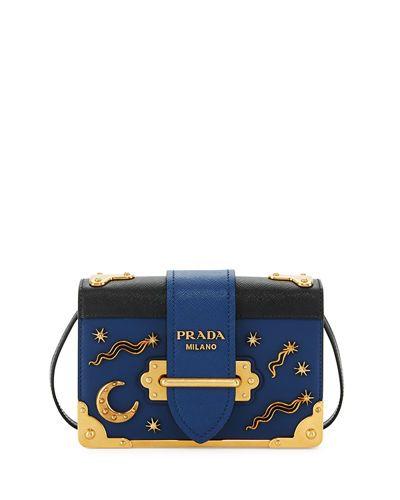 V3F2L Prada Cahier Petit Leather Trunk Bag