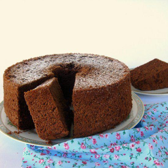 Chocolate chiffon cake (in Italian)