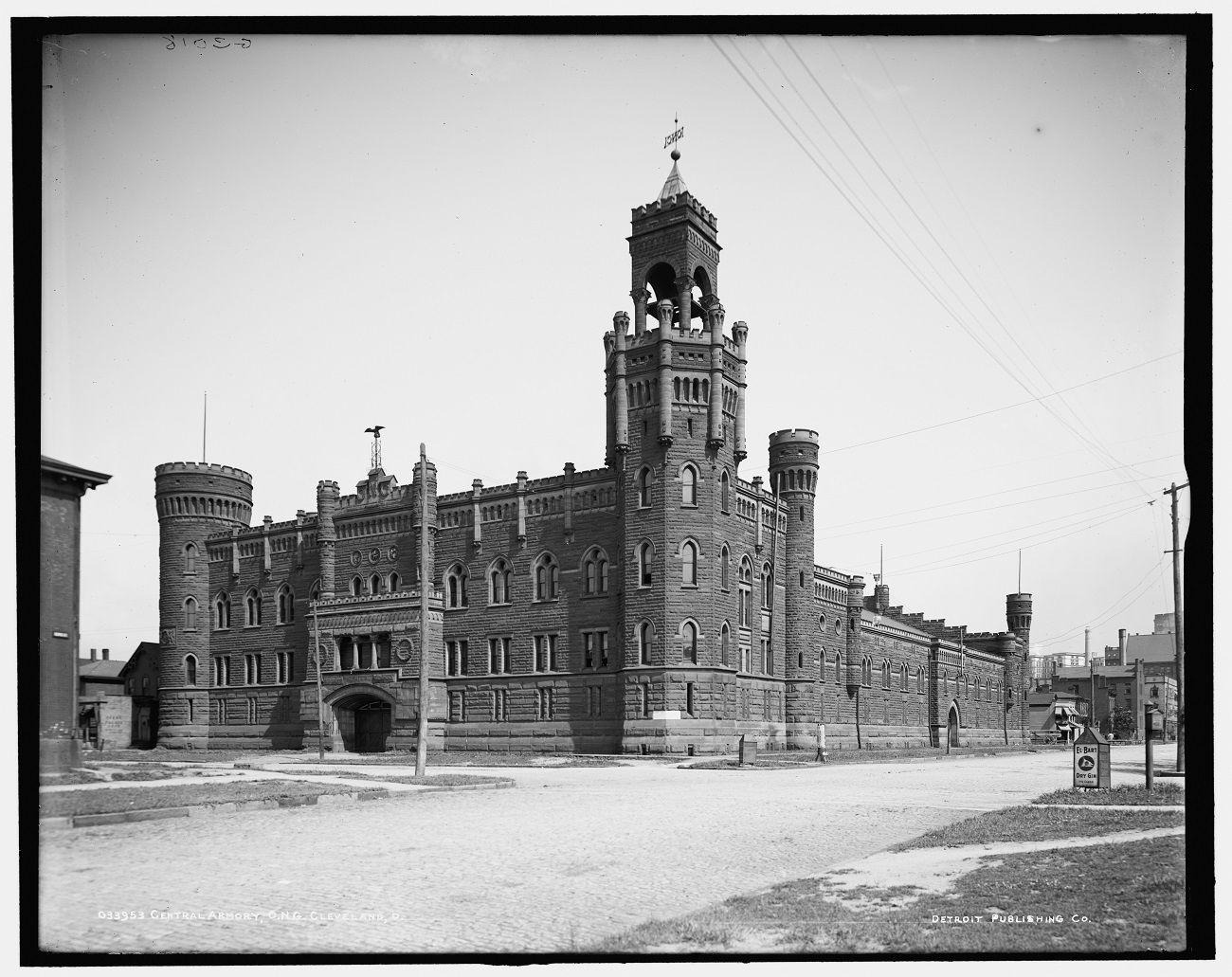 Central armory, O.N.G. [Ohio National Guard], Cleveland, Ohio  1900