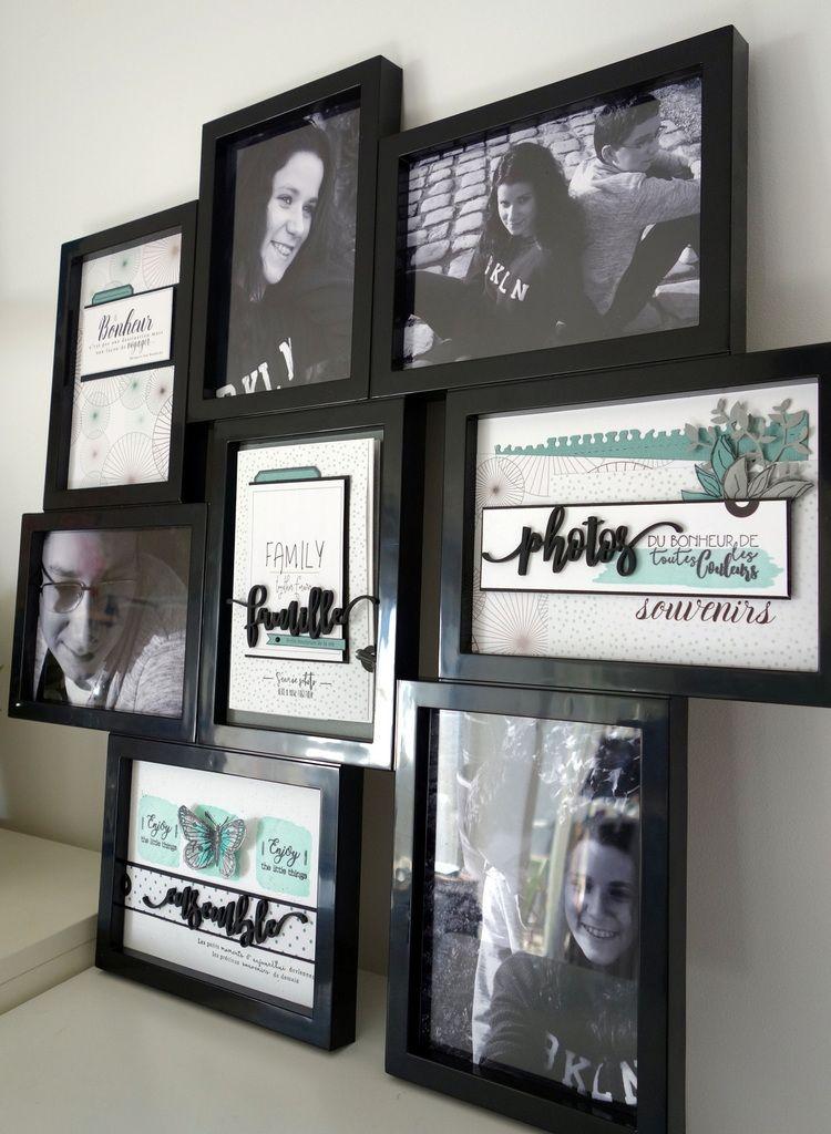 Visuel Et Tuto Kit Abonnement N 3 Sur 7 Cadre Pele Mele Famille Scrapbooking Cadre Cadre Deco Cadres