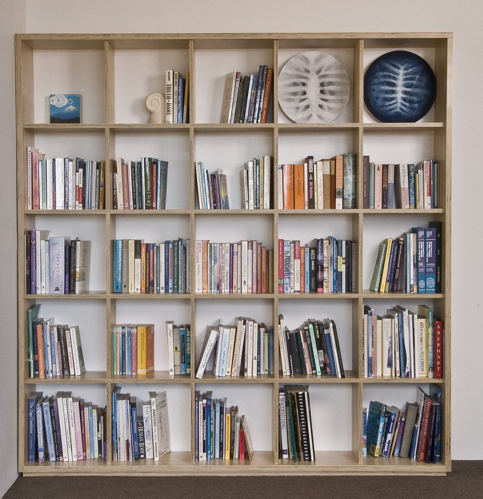 Plywood Bookshelf Made In Square Block Formulation Made In New Zealand From  Local Materials