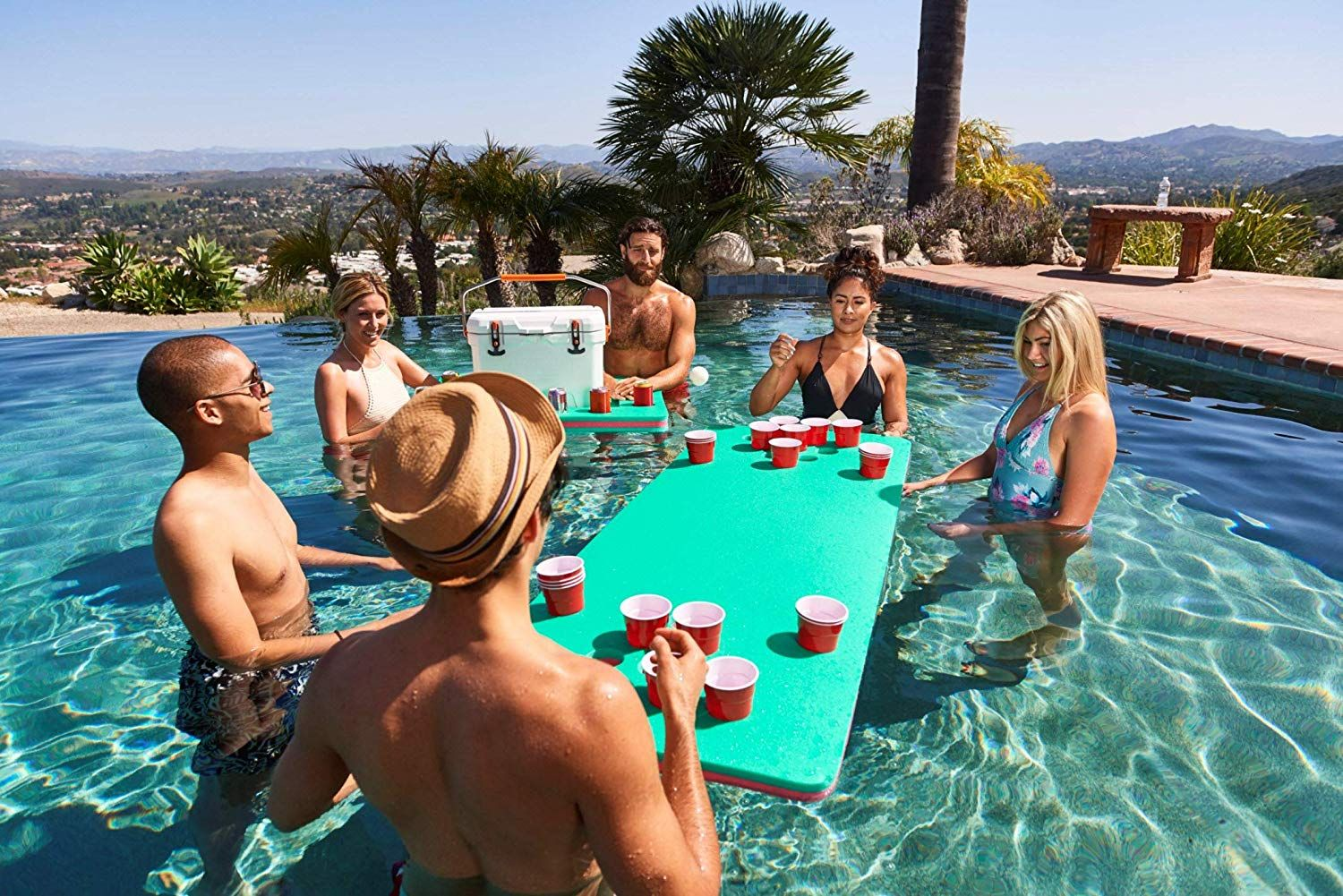 The Floating Beer Pong Table Dayrole Com Floating Beer Pong Table Beer Pong Tables Beer Pong