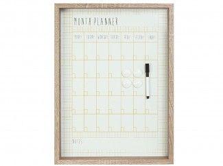 maandplanner houten lijst