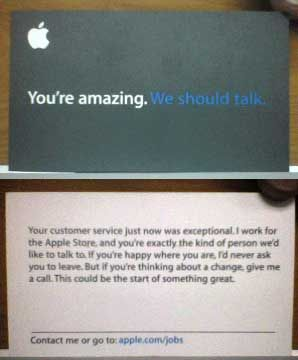 Recruiting cool idea graphic arts pinterest business and apple recruiting card you could make a twist on it reheart Choice Image