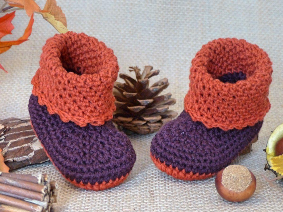 "Baby-Stiefel ""Anouk"" 0-6 Monate, Häkelanleitung | Babies, Crochet ..."