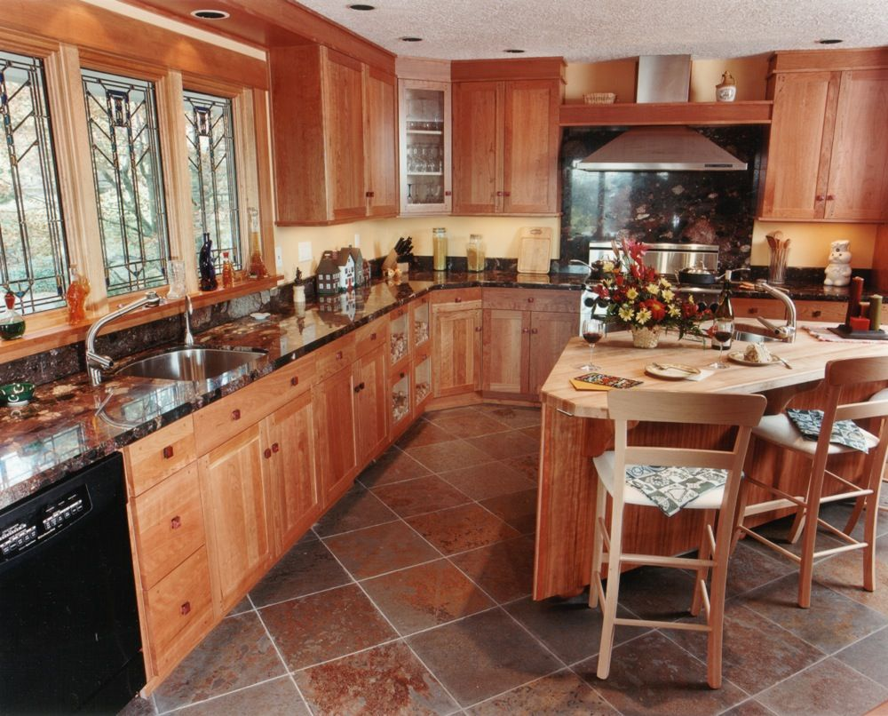 Kitchen And Flooring Slate Floor Home Designs Tags Butcher Block Granite
