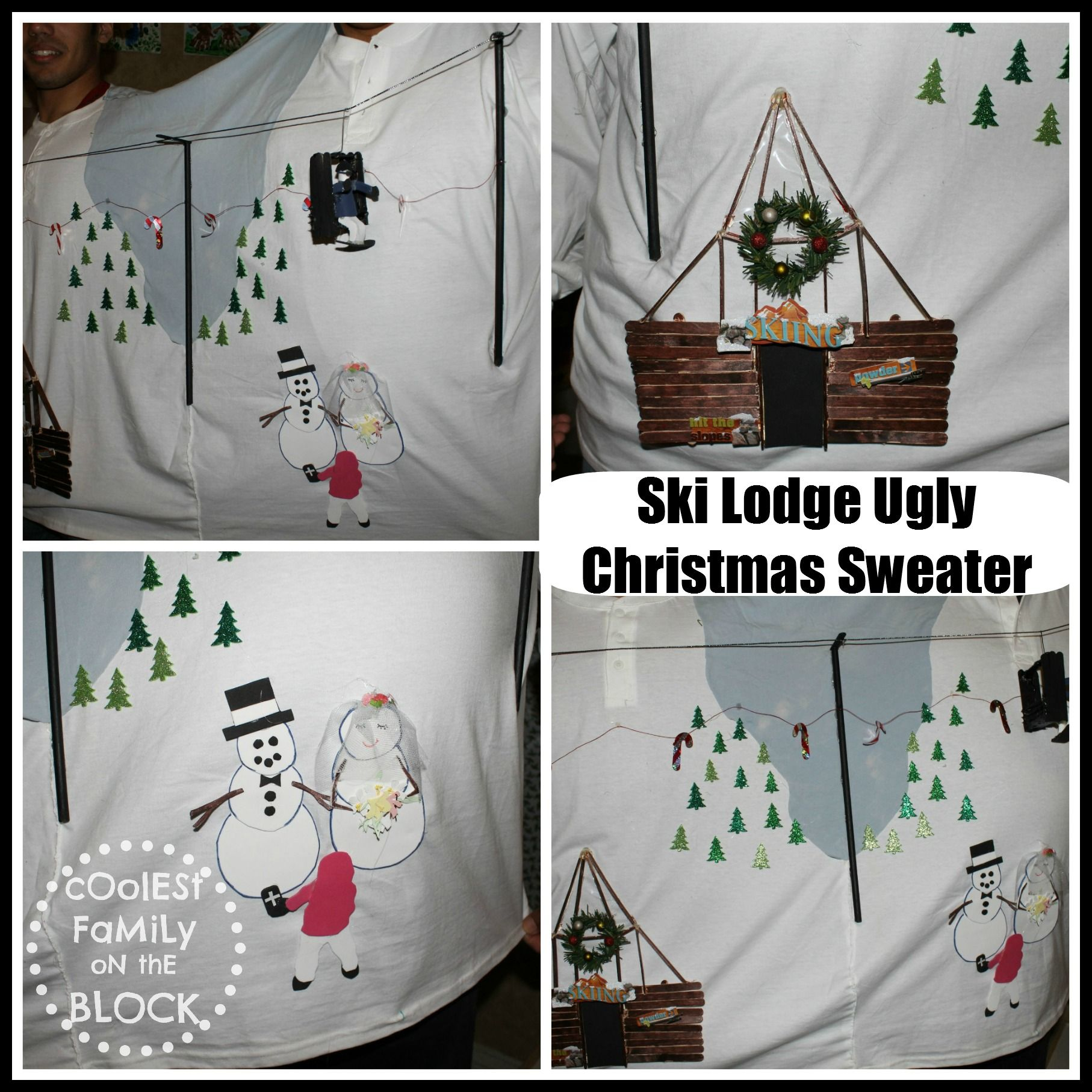 Ski Lodge Ugly Christmas Sweater (Coolest Family On The Block)