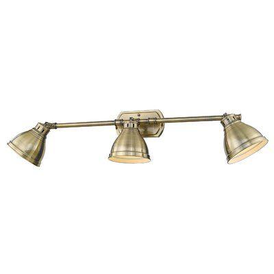 Photo of Bodalla 3-Light Vanity Light Shade Color: Aged Brass, Finish: Aged Brass