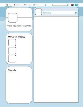 twitter template teaching tools pinterest twitter template
