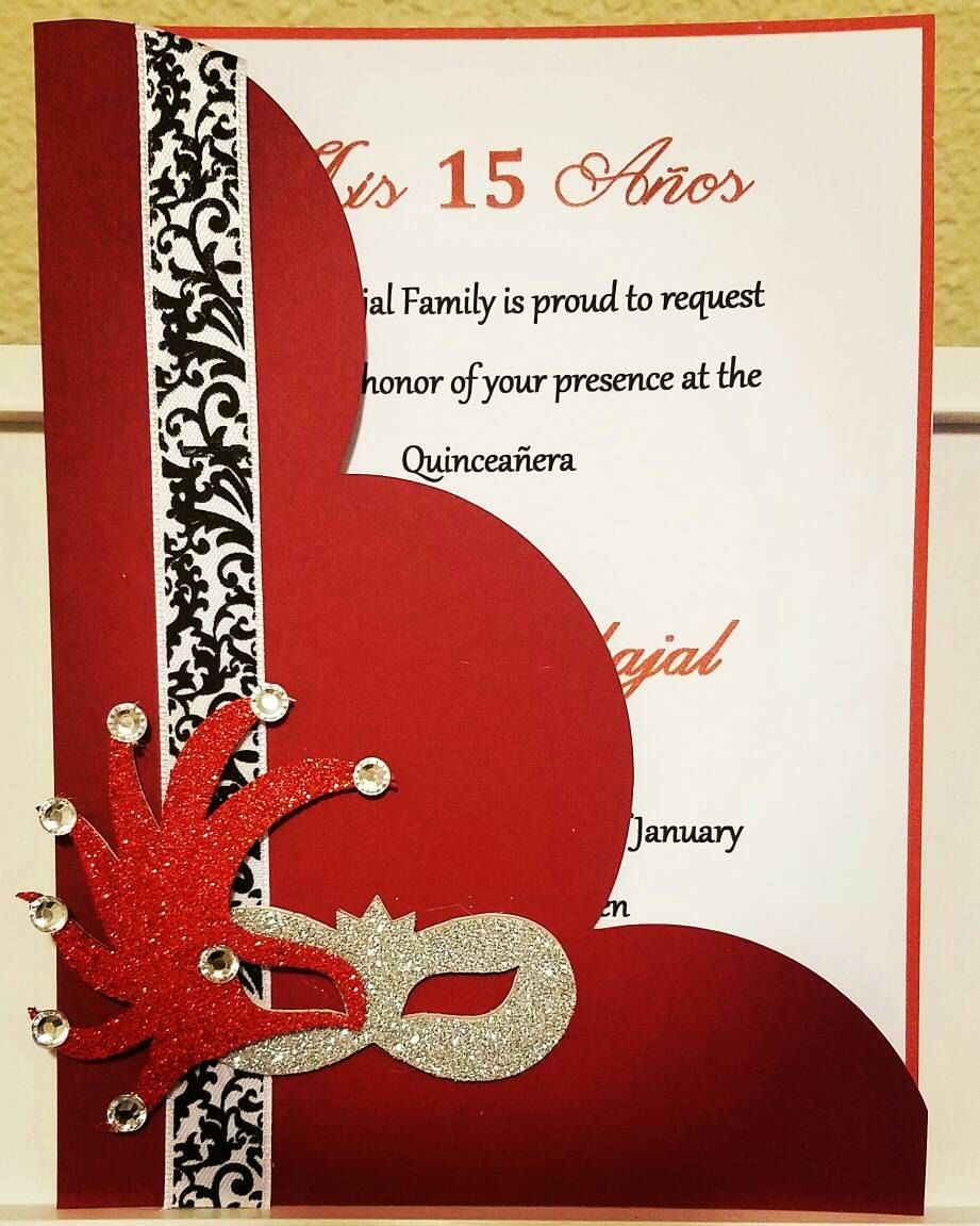 Handmade red carnival Invitation by Lupitacortes on Etsy ...