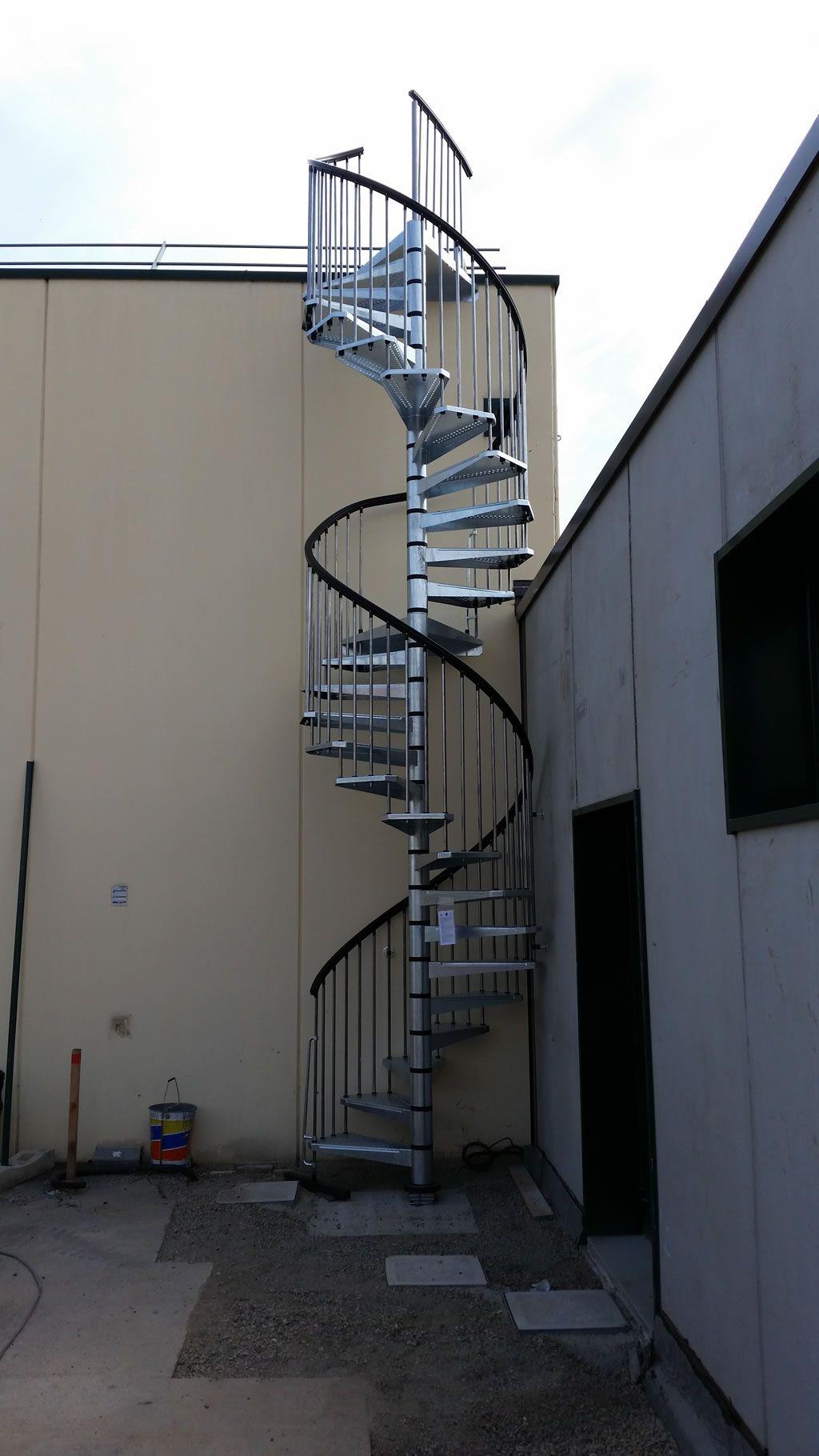 Best Fontanot Outdoor Spiral Staircase The Klio Zink Outdoor 400 x 300